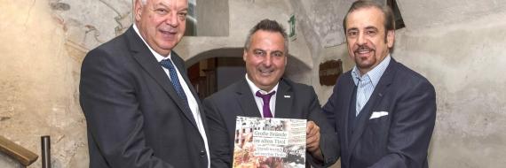 Reiter, Lappi e Gusmarotti con libro